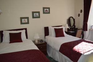 room two, twin, guest house grantown on spey